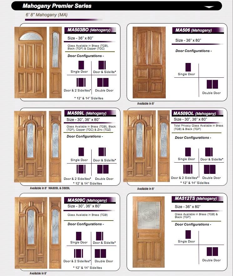 AMISH CUSTOM DOORS MAHOGANY & BEVELED GLASS - Doors Doors Doors